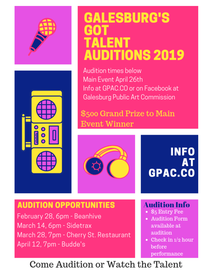 galesburg got talent auditions 2019